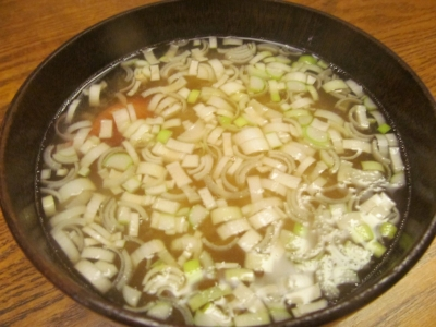 ユメカサゴの味噌汁2