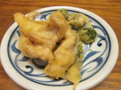 ウマヅラとこごみの天ぷら1