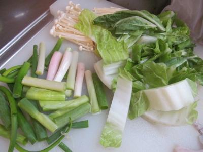 白菜分葱えのき茸