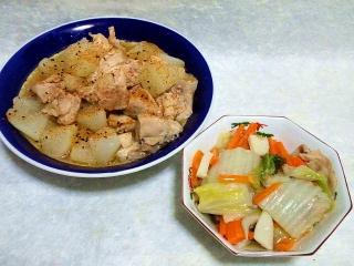 150626_3254大根と鶏むね肉の煮物・八宝菜VGA