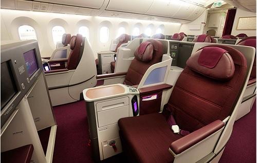 タイ航空ボーイング787ビジネスクラス
