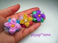 花の巾着 マグネット
