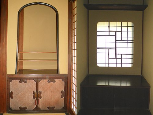 旧堀田邸・書斎上の間棚