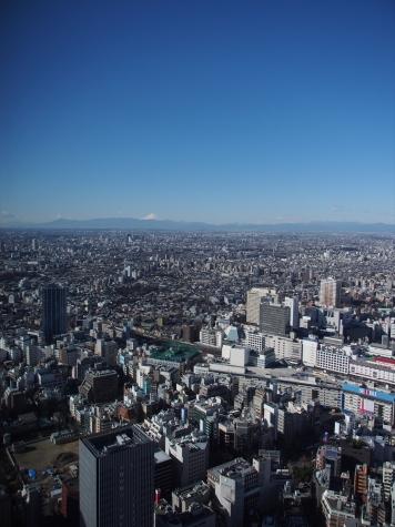 サンシャイン60からの富士山
