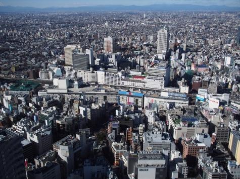 池袋駅【サンシャイン60より】