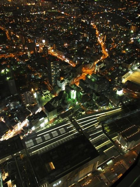 JR 天王寺駅周辺【ハルカス300からの夜景】