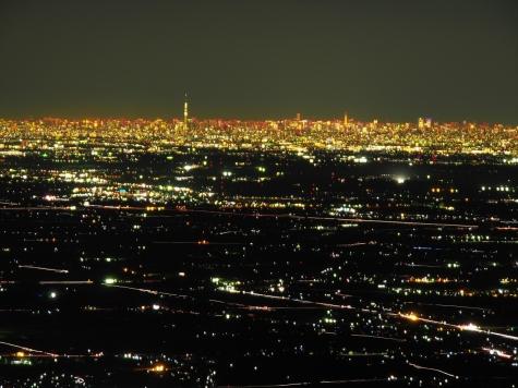 東京スカイツリー方向【筑波山からの夜景】