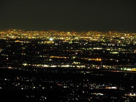常総市石下方向【筑波山からの夜景】