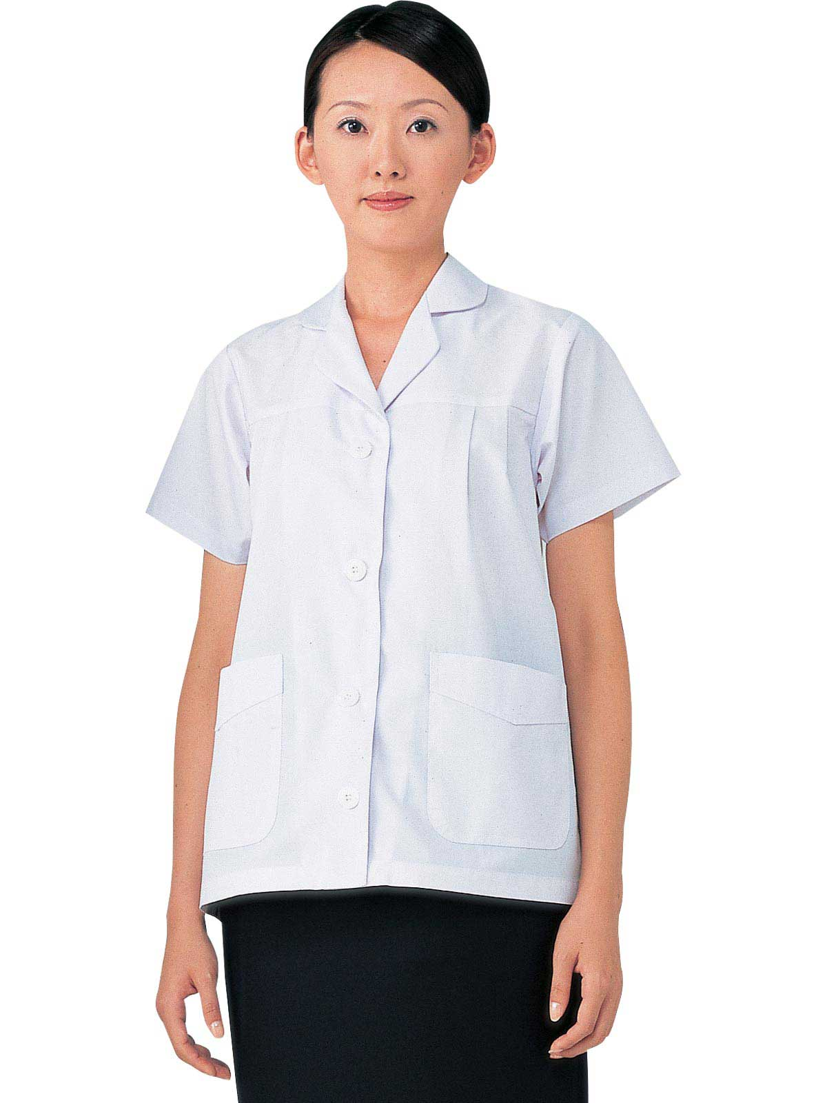 女子調理白衣半袖 SKA327