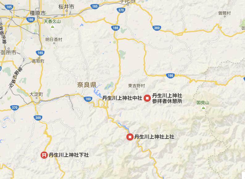 丹生川上神社地図