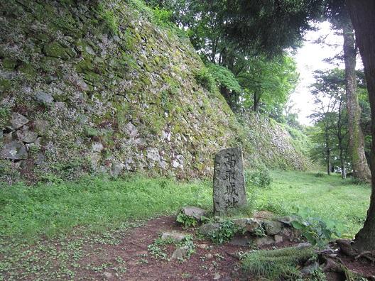 高取城址の石碑