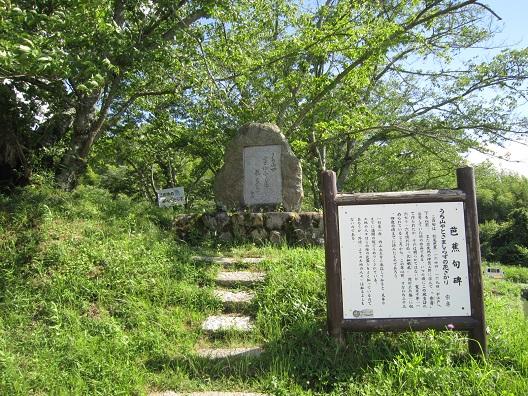 内山永久寺の芭蕉句碑