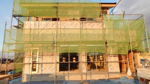 建設・ 新築ローコスト住宅工事風景