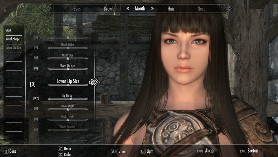 Tut How To Create Cute Character On Skyrim Tutorial