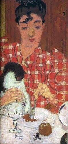 格子縞のブラウス(1892年)