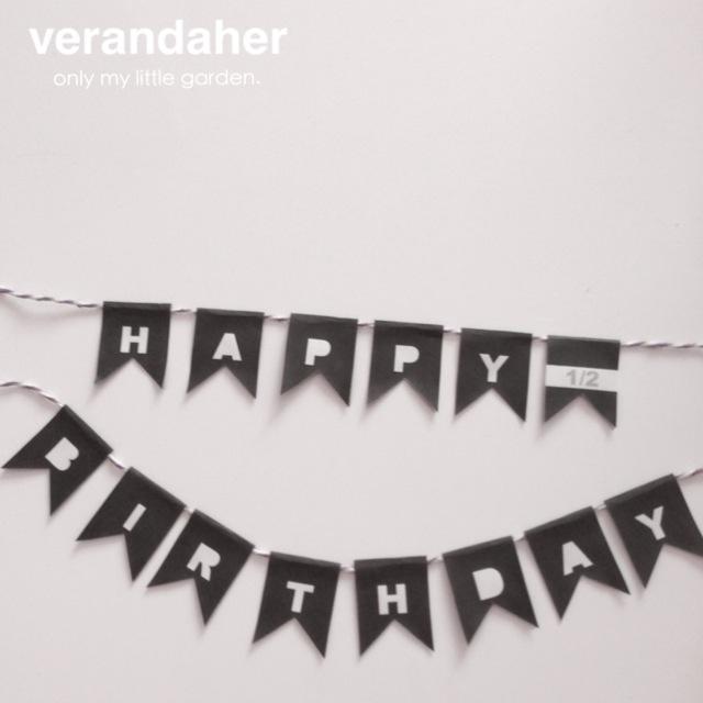 誕生日用のケーキトッパーをdiy無料テンプレート Verandaher
