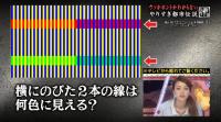 錯視画像横線何色に見える?