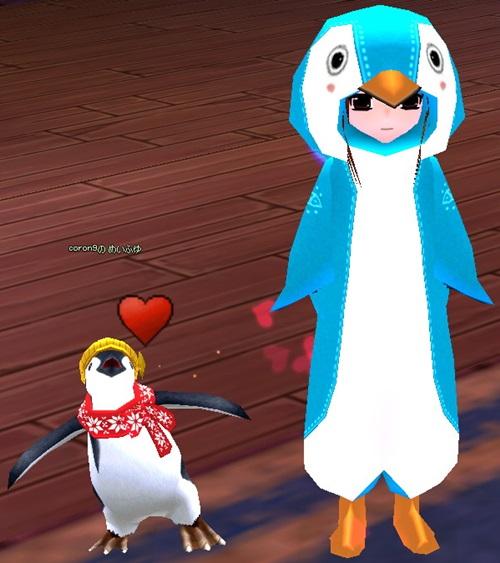 かき氷 ニット帽ペンギン 作成 9