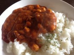 ひよこ豆と野菜のチャナマサラカレー:できたところ